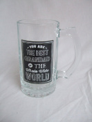 """""""You are the Best Grandad in the Whole Wide World"""" Grandad Themed Novelty Tankard / Pint Glass with Presentation Box"""