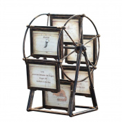 ZZZSYZXL Vintage Ferris wheel frame frame 6 frames creative photo frame gift , 13cm