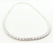 5 MM Platinum Curb Chain Necklace Silver Quality Chrome Hip Hop Fancy Dress Business Chain Silver 1459