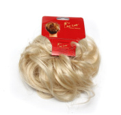 Ponuholder #613 Scrunchy Scrunchie Bun Updo Hairpiece Hair Ribbon Ponytail Extensions Curly Bleach Blonde