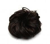 Ponyholder #4 Scrunchy Scrunchie Bun Updo Hairpiece Hair Ribbon Ponytail Extensions Curly Medium Brown