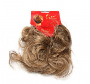 Ponyholder #17m22 Scrunchy Scrunchie Bun Updo Hairpiece Hair Ribbon Ponytail Extensions Curly Ash Blonde & Medium Blonde