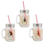 Happy Animals Mason Drinking Jars assorted