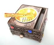 Copper Metal Trinket Incense Box Decorative Arabian Bakhoor Burner Box with Drawer and Tongs