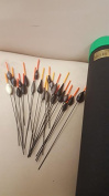Set Of 22 Middy Commercial Hi VIZ And In Line Pole Fishing Floats Supplied In Float Tube RRP £39.99