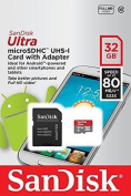 32GB SanDisk Ultra microSDHC UHS-1 Card with Adapter
