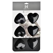 Modern House Muffin Mould, Black, 27 x 18 x 3.5 cm