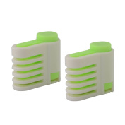 sourcingmap® Adjustable 5 Layers Cake Leveller Slicer Bread Cutter Cut Guide Tool 2pcs