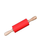WODEJIAYUAN MINI Baking Tools Happy Pastry Chef Non-Stick Silicone Rolling Pin Snacks And Bread