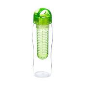 Yoko Design 1429 Detox Bottle with Infuser Green Plastic 25 x 7.2 x 7.2 cm