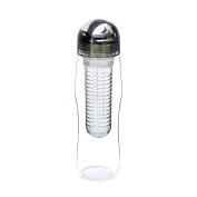 Yoko Design 1430 Detox Bottle Canister With Black Plastic 25 x 7.2 x 7.2 cm