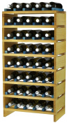 expovinalia ex2740 - Wine Rack Stackable for 40 bottles, wooden, pine and Blue