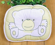 Domire Newborn Baby Prevent Flat Head Pillow Cartoon Bear Yellow