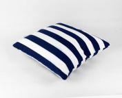 Zedtom Dark Blue White Stripe Printing Square Pillow Cushion Cover Sets Car Cushion Cover Home Decor