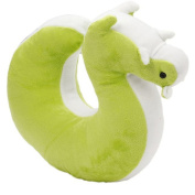 ODN Squirrel U Shaped Travel Pillow Car Memory Neck Support Headrest Cushion Green