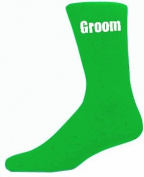 Green Mens Wedding Socks - High Quality Groom Green Socks
