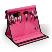 Roo Beauty Makeup Brush Folder, Professional Cosmetic Brushes Storage Holder in Pink by Roo Beauty