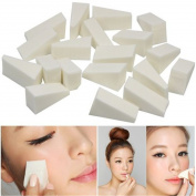 VWH 24Pcs/Set Sponges Puff Wedges White Triangle Shape Foundation Beauty Tools