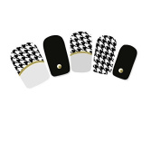 Flyyfree Classic HOUNDSTOOTH NAIL STICKER For Nail Decoration DIY