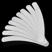 SupplyEU 10 x White Double Sided Nail File Arched Curved
