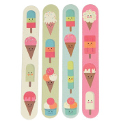 Set Of 4 Double Sided Emery Board Nail Files - Choice Of Design