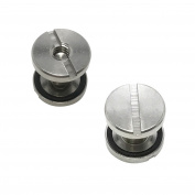 Scuba Choice Backplate Stainless Steel Book Screws, Pair