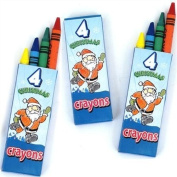 Christmas Crayons 10cm pack - 12 packs supplied