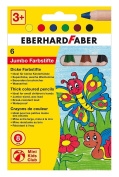 Eberhard Faber Jumbo colour pens crayons 8 mm Mine Pack of 6