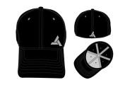 ASSASSINS CREED Unity Abstergo Industries Logo Flex Fit Baseball Cap