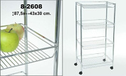 DonRegaloWeb Vegetable Rack and Kitchen Trolley With Metal Baskets and Wheels