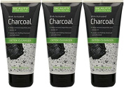 3 x 150ml Beauty Formulas with Activated Charcoal Detox Cleanser