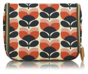 Orla Kiely Flower Stripe Hanging Wash Bag, Large