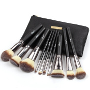 Matto Make Up Brushes Set 10-Piece Makeup Brushes Make-up Tools with Cosmetics Travel Bag