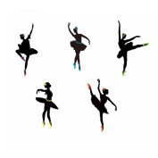 Winhappyhome Ballet Wall Art Stickers for Dance Room Living Room Coffee Shop Background Removable Decor Decals