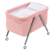 minicuna Aluminium Basic Interbaby Pink Includes OUTER Textile + Cushion + Quilt + Pillow