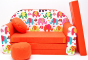 F9 Children's Fold-Out Sofa Couch Sofa Mini 3 in 1 Baby Set + Child Seat and Seat Sofa Cushion/Mattress
