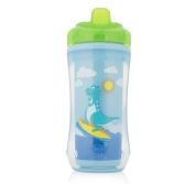 Dr Brown's Hard Spout 12 Months Plus Dinosaur Insulated Cup, Blue