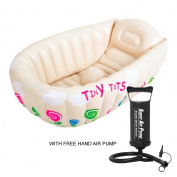 Baby Kids Bath Tub Inflatable Washing Splashing Tiny Tots Heat sensor Tub With Free Hand Pump