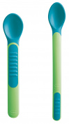 MAM Babyartikel 67076320 Heat Sensitive Feeding Spoons & Cover, Neutral