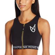 MINKPINK Women's Combat Zip Front Sports Crop