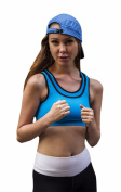 Sky Blue Sports Bra by Anze Dress. Double Strap Racerback Support Bra. Active Wear for Women
