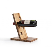 Danya B. WS11630 Four Bottle Floating Wine Holder with Bark - Brown