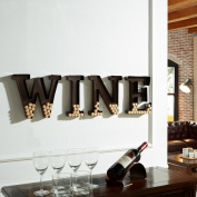 Danya B. HG10196 Metal Wall Mount Wine Letters Cork Holder - Brown