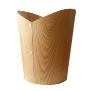 Home Trash can Creative Trash can Material Wood Size 25.5 * 30cm without cover trash can office supplies trash can