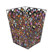 Large trash can household trash can metal material specifications 22 * 28cm vase