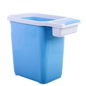 GUOCAIRONG Trash Household Kitchen Toilet Garbage Bag Crimp Sanitary Barrel No Cover Large Barrel Plastic Blue Trash