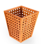 GUOCAIRONG Trash can high-end garbage bin living room office creative solid wood bamboo trash can Hotel simple large trash can