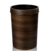 GUOCAIRONG Trash Cans Retro Creative Imitation Wood Grain Trash Cans Living Room Kitchen RoomWith Pressure Ring Trash Cans 12L