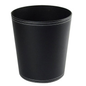 GUOCAIRONG trash cans home kitchen Trash Cans simple fashion retro rounded leather trash can creative Trash10L