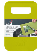 Zeal Straight to pan slim chopping boards : Small : Lime Green